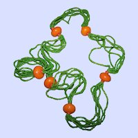 How Pretty Hand Crafted Glass Seed Bead and Glass Bead Stranded Ladies Fashion Accessory Necklace