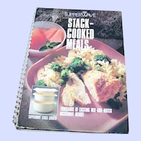 Vintage Cook Book TupperWare Stack-Cooked Meals Hard Cover