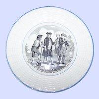 Vintage Digoin Sarreguemines France Basketweave PARMENTIER Plate