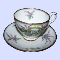 Vintage  Tartan Series Royal Stafford Bone China MI England Teacup Saucer MACLEAN