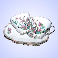 Two Lovely Bone China  Duchess China Tea Cup Luncheon Sets Made in England