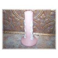 Pink E Canada Art Pottery Jasper Ware Bud Vase