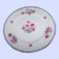 Vintage Decorative 10.5 inch  Floral Plate Stamped Fine Bone China Shelley England Carnation