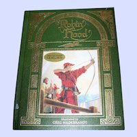 Genuine Bonded Leather Hard Cover Book Robin Hood Illustrated by Hildebrandt