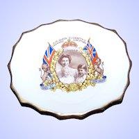 Vintage Souvenir Royalty Bone China  Pin Dish H.M. Queen Elizabeth Crowned June 2nd 1953