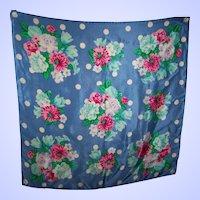 Beautiful Designer Signed Jacqueline Ferrar Floral Print Scarf 100 % Silk