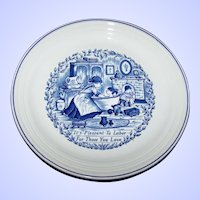 Blue & White Transferware Plate It's Pleasant To Labor For Those You Love  Myott Meakin