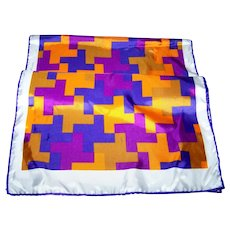 Rectangular Geometric Op Art Print Unisex Fashion Scarf Acetate Blend