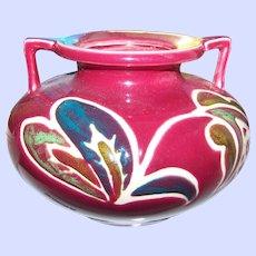 A Lovely Vintage Squat Pottery Vase Home Decor Accent