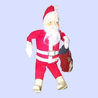 VTG Mid-Century Collectible 12 Inch Santa Claus Doll AMRAM & Sons Tokyo Japan