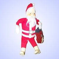 VTG Mid-Century Collectible 12 Inch Santa Claus Doll AMRAM & Sons Tokyo Japan