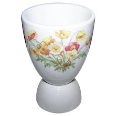 Super Vitrified Double Egg Cup Eggcup Spring Floral Theme England