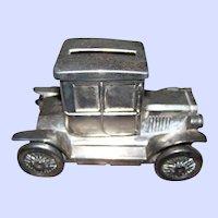 Vintage Metalware Automobile Car Model Coupe  Still Coin Bank MI Hong Kong