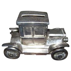 Vintage Metalware Automobile Car Model Coupe  Still Coin Bank MI Hong Kong