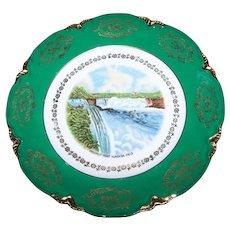 Vintage Scenic Souvenir Travel Collectible Porcelain Cabinet Plate Prospect Point Niagara Falls