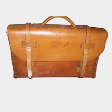 Vintage Satchel School Bag Northern Lights Leather  New Brunswick