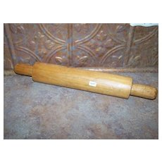 Primitive Hand Made Wood Rolling Pin Signed