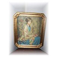 Framed Print Alice Blue Gown
