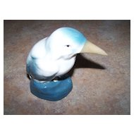 Pretty Vintage Bird Figurine Stamped Made In Czechoslovakia