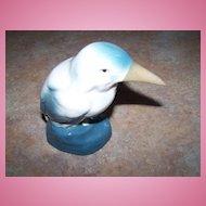 Pretty Vintage Bird Figurine Stamped Made In Czechoslovakia