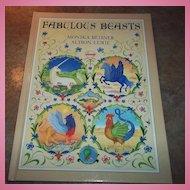"Hard Bound Book "" Fabulous Beasts "" C. 1981"