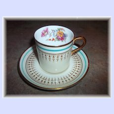 Vintage Collectible  Aynsley England Small Demi - Tasse Floral Motif