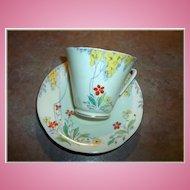 Vintage Deco Style Floral Motif Royal Grafton Tea Cup & Saucer Set England