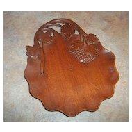 A Beautiful Vintage carved Wood Grape Vine Leaf  Tray