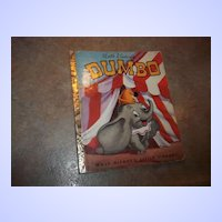 Vintage Children's Book  DUMBO Walt Disney's Little Library