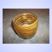 Vintage Chunky Striped Lucite Mod Bangle Bracelet