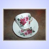 Pretty Vintage Floral tea Cup & Saucer Delphine MIE