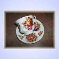 Vintage  Mixed Fruit Tea Cup & Saucer Set  Royal Albert  England