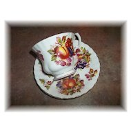 Vintage  Mixed Fruit Tea Cup & Saucer Set  Royal Albert  England