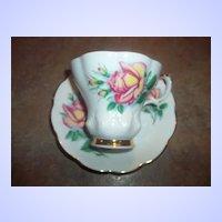"""Vintage Rose Floral Motif Tea Cup & Saucer Set """"Anne"""" Royal Albert"""