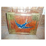 Early Large Blue Bird Toffee  Advertising Tin England