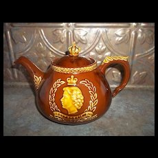 Vintage Coronation Royalty Teapot Dartmouth Pottery