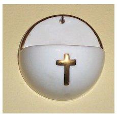 Small Crucifix Porcelain Holy Water Font Goebel