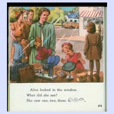 High On A Hill 1957 Reader Alice & Jerry Basic Reading Program