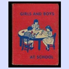 Girls and Boys At School Reader 1956