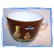 Limoges H.P. Chicks & Bee Mug / Cup S&S L Mark