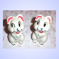 Pottery Disney  Bunny Rabbit Thumper Salt & Pepper Shakers Leeds