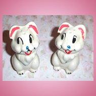 Pottery Disney  Bunny Rabbit Thumper Salt & Pepper Shakers Leeds