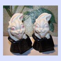 Novelty Demented Magic Show  Googly Eyed Bunny Rabbit Shakers Japan