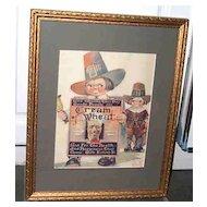 Framed 1923  Advertising Magazine Print Cream of Wheat Cereal