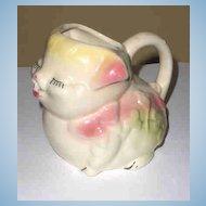 American Bisque Pottery Pig Breakfast  Creamer/ Pitcher