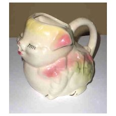 American Bisque Pottery Pig Breakfast  Creamer/ Pitcher