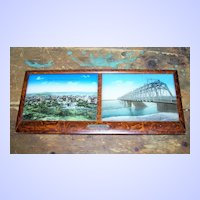 Framed Images with  M.O.P. Accents Souvenir of Montreal