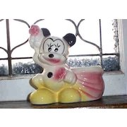 American Bisque Mickey Mouse WDP Pottery Planter