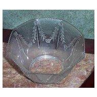 Vintage Pressed Glass Shade Floral Leaf Motif