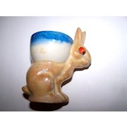 Not Perfect Googly-Eyed  Bunny Rabbit Egg Cup Japan